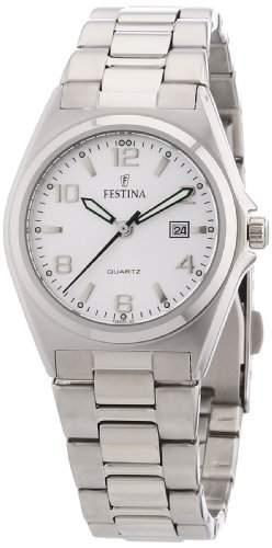 Festina Damen-Armbanduhr XS Analog Quarz Edelstahl F163755
