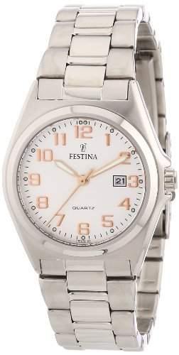 Festina Damen-Armbanduhr XS Analog Quarz Edelstahl F163757
