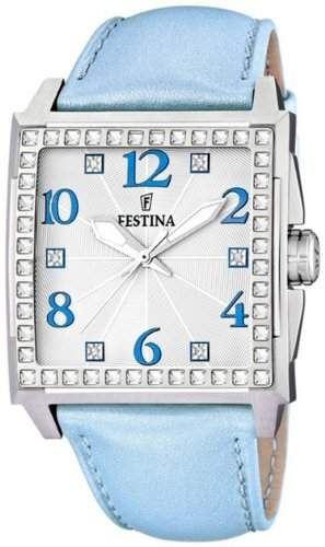 Festina Damen-Armbanduhr Analog Quarz Leder F165713