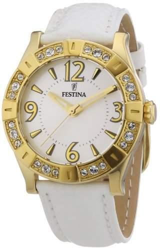 Festina Damen-Armbanduhr Trend Golden Dream Analog Leder F165801