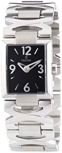 Festina Damen-Armbanduhr XS Analog Quarz Edelstahl F165974