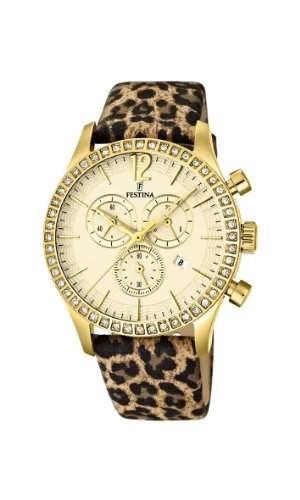 Festina Damen-Armbanduhr Analog Quarz Leder F166056