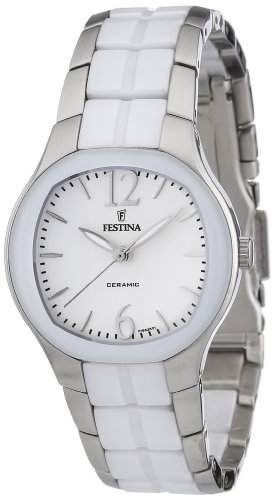 Festina Damen-Armbanduhr XS Trend Ceramic Analog Quarz verschiedene Materialien F166261