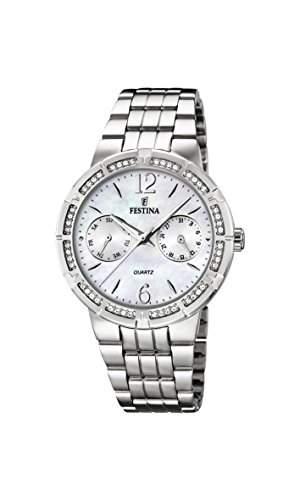 Festina Damen-Armbanduhr Analog Quarz Edelstahl F16700-1