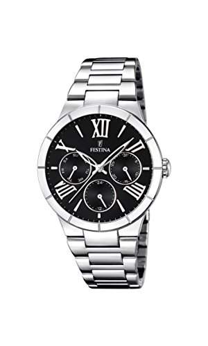 Festina Damen-Armbanduhr Analog Quarz Edelstahl F16716-2