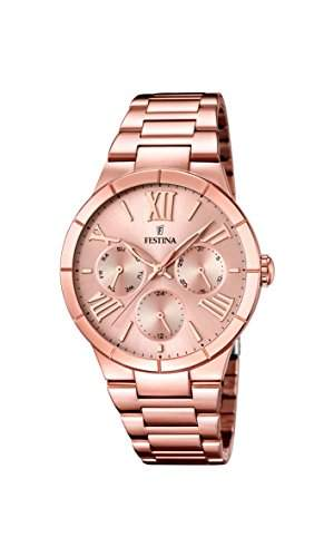 Festina Damen-Armbanduhr Analog Quarz Edelstahl F167182