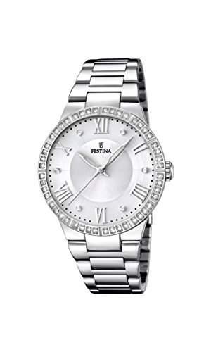 Festina Damen-Armbanduhr Analog Quarz Edelstahl F16719-1