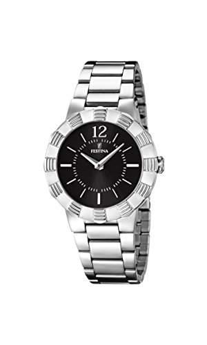 Festina Damen-Armbanduhr XS Analog Quarz Edelstahl F167302