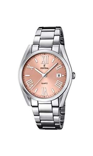 Festina Damen-Armbanduhr Analog Quarz Edelstahl F167902