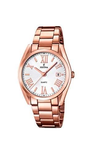 Festina Damen-Armbanduhr Analog Quarz Edelstahl F167931