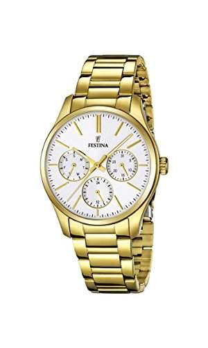 Festina Damen-Armbanduhr Analog Quarz Edelstahl beschichtet F168151