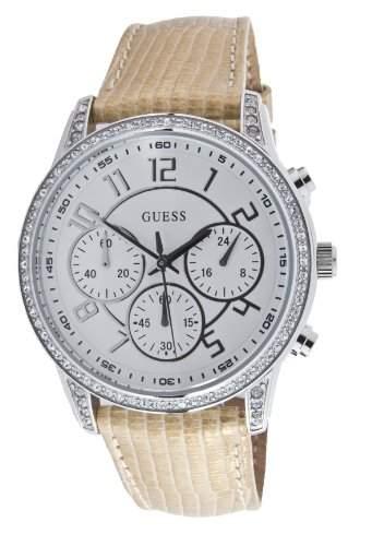 Guess Damen-Armbanduhr Analog Leder W14545L2