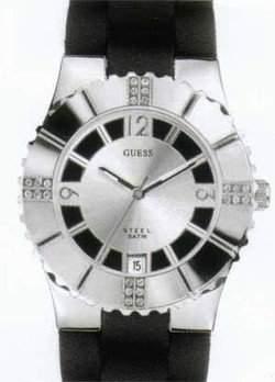 GUESS Damen-Armbanduhr GLOW Analog Quarz Kautschuk I80332L1