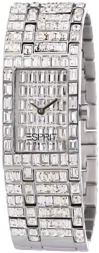 Esprit Collection Damen-Armbanduhr h-helena silver Analog Quarz Edelstahl EL101232F04