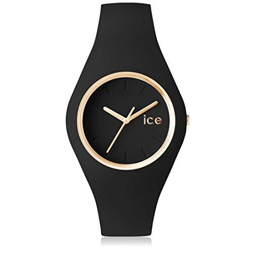 Ice-Watch Unisex-Armbanduhr Analog Quarz Silikon ICEGLBKUS13