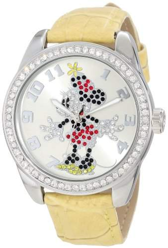 Disney by Ingersoll Damen-Armbanduhr Analog Polyurethan Gelb 25658