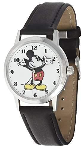 Ingersoll Unisex Armbanduhr Analog weißes Zifferblatt schwarzes PU-Band Disney-Motiv 26090