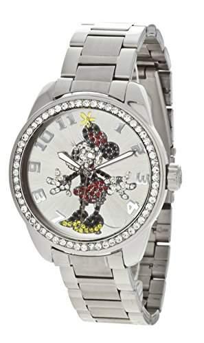 Ingersoll Disney Girl Quarz-Uhr mit Silber Zifferblatt Analog-Anzeige und Silber Armband 26165