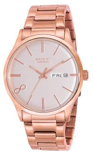 Axcent Damen-Armbanduhr Eight Analog Quarz Edelstahl IX1392R-662