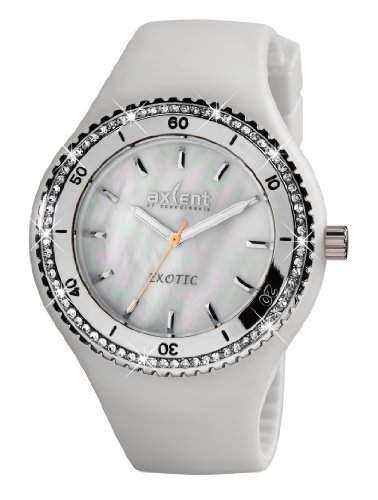 Axcent Damen-Armbanduhr Exotic Analog Quarz Kautschuk IX15604-14