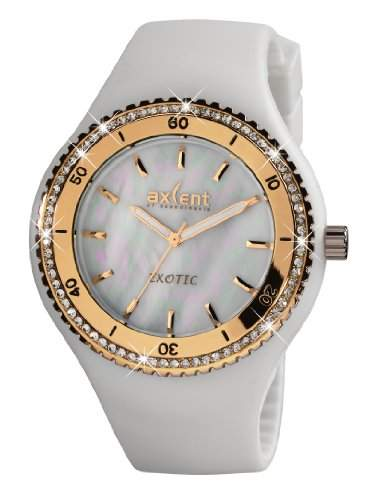Axcent Damen-Armbanduhr Exotic Analog Quarz Kautschuk IX1560R-06