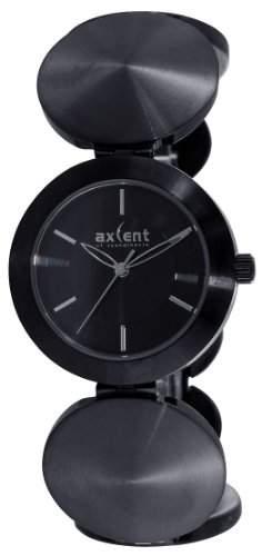 Axcent of Scandinavia-ix6333b-232-Art Damen-Armbanduhr-Quarz Analog-Zifferblatt schwarz Armband Stahl schwarz
