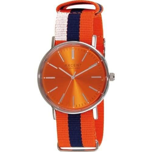 Axcent Damen-Armbanduhr Vintage Analog Quarz Textil IX78004-22