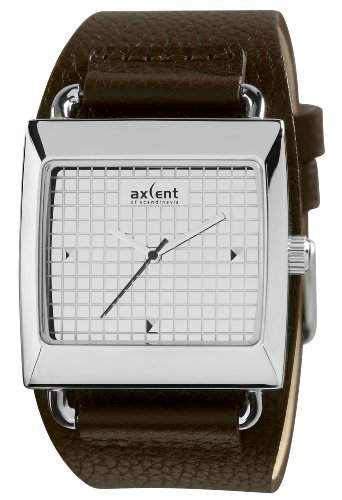 Axcent Damen-Armbanduhr Loud Analog Quarz Leder IX80202-646
