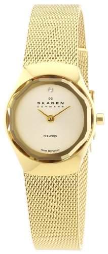 Skagen Damen-Armbanduhr XS Analog Quarz Edelstahl beschichtet 432SGSG