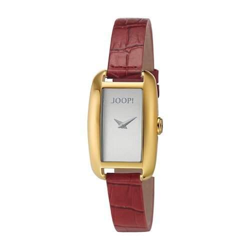 Joop JP101052F07 Exotica Uhr Damenuhr Lederarmband vergoldet 30m Analog rot