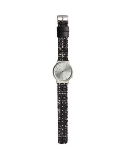 Komono Wizard Tweed Uhr schwarz black tweed-Onesize