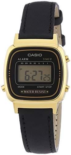 Casio Damen-Armbanduhr Collection Digital Quarz Leder LA670WEGL-1EF