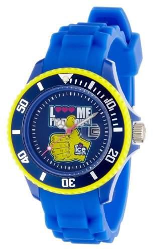 Ice-Watch Unisex-Armbanduhr Small F*** Me Im Famous Blau LMSSRBHSS11
