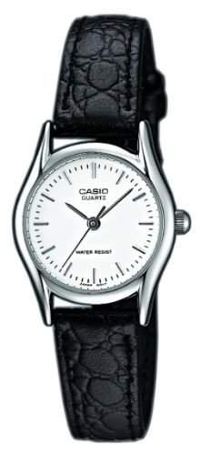 Casio Damen-Armbanduhr Analog Leder schwarz LTP-1154E-7AEF