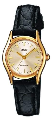 Casio Damen-Armbanduhr Casio Collection Analog Quarz Schwarz LTP-1154PQ-7AEF