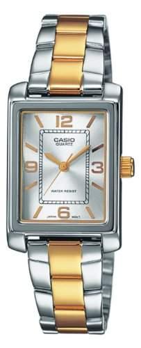 Casio Damen-Armbanduhr XS Analog Quarz Edelstahl LTP-1234SG-7AEF