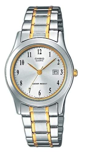 Casio Damen-Armbanduhr Analog Edelstahl mehrfarbig LTP-1264G-7BEF