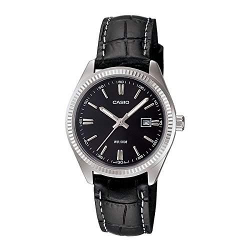 Casio Damen-Armbanduhr Classic Analog Quarz Leder LTP-1302L-1A