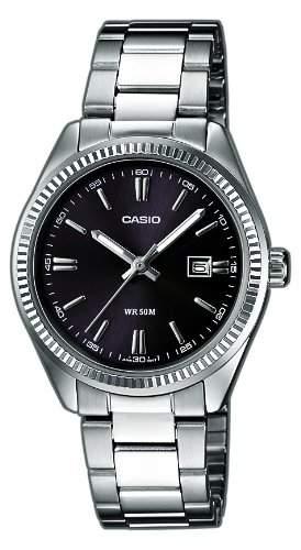 Casio Damen-Armbanduhr Analog Quarz One Size, weiss, silber