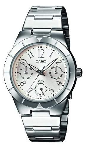 Casio Damen-Armbanduhr Analog Quarz Edelstahl LTP-2069D-7A2VEF