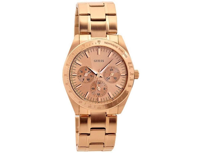 Guess Damen-Armbanduhr Analog Quarz Edelstahl W13101L1