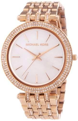 Michael Kors Damen-Armbanduhr Analog Quarz Edelstahl beschichtet MK3220