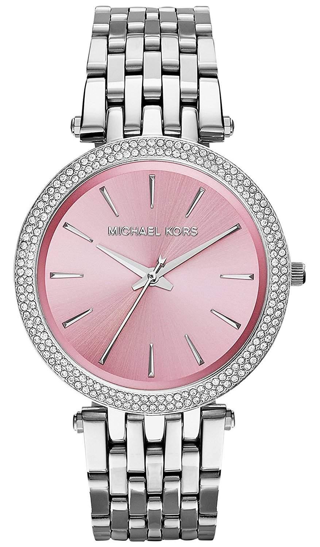 Michael Kors MK3352 Damenuhr Armbanduhr Edelstahl mit Steinen besetzt NEU