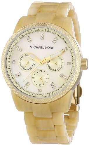 Michael Kors Damen-Armbanduhr Ritz Multifunktion Analog Quarz Plastik MK5039