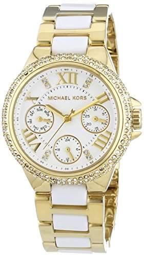 Michael Kors Damen-Armbanduhr XS Analog Quarz Edelstahl MK5945