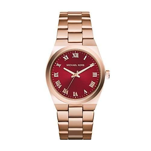 Michael Kors Damen-Armbanduhr Analog Quarz Edelstahl beschichtet MK6090