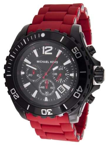Micheal Kors Damen-Armbanduhr XL Analog Quarz Silikon MK8212