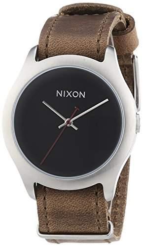 Nixon Damen-Armbanduhr Mod Leather Brown Analog Quarz Leder A428400-00