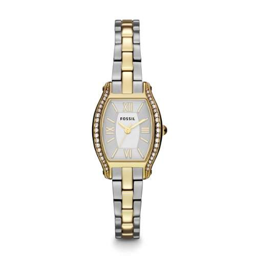 Fossil Damen-Armbanduhr XS Georgia Analog Quarz Leder ES3287