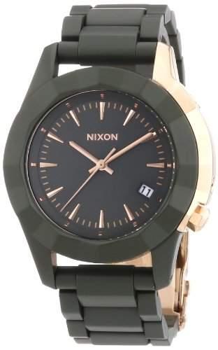 Nixon Damen-Armbanduhr Monarch All Surplus  Ros Gd Analog Quarz Edelstahl beschichtet A2881419-00